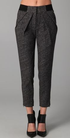 Loving these jersey pants; Yigal Azrouel.