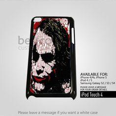 AJ 4383 Joker Typhography for iPod 4 Case