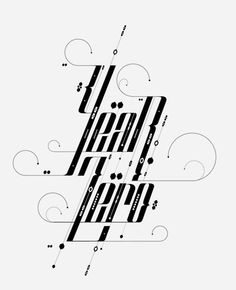 Type Treatments 2011 by David Mascha, via Behance