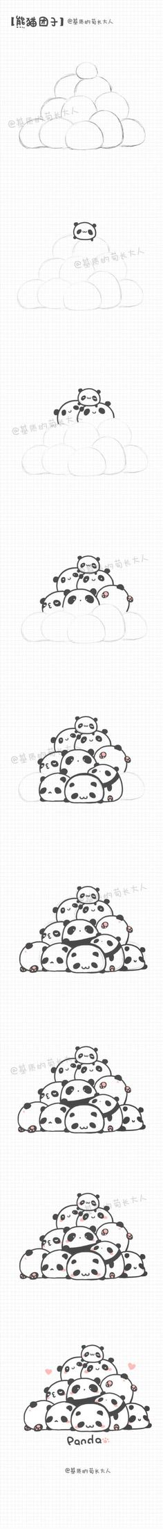 堆糖-美好生活研究所 Kawaii Drawings, Doodle Drawings, Animal Drawings, Doodle Art, Easy Drawings, Kawaii Doodles, Kawaii Art, Drawing For Kids, Drawing Tips