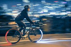 Revolights Skyline Bicycle Lighting System >>> Check this awesome product by going to the link at the image. Bicycle Wheel, Bicycle Tires, Cool Bicycles, Cool Bikes, Cat Exercise Wheel, Bike Gadgets, Fitness Gadgets, Ski, Bicycle Lights