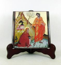 Christian gifts  Noli me tangere  Jesus and St Mary Magdalen