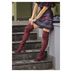 stretch cuissardes burgundy style #madeinitaly #boots #overkneeboots #otkboots #fashionstyle #fashion #shoeslover