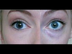 Hide dark blue under-eye circles with a matte orange eye shadow then a ...