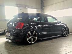 Polo on Audi rims Audi, Porsche, Volkswagen Polo, Polo Gti, Corsa Wind, Polo Design, Sport Seats, Vw Cars, Car Tuning