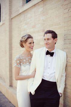 Formal Groom's Attire | See the wedding on SMP -  http://www.StyleMePretty.com/2014/01/10/al-fresco-austin-wedding/ Photography: The Nichols