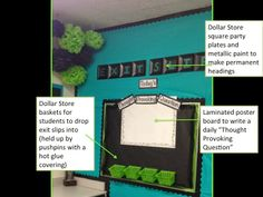 6th Grade Classroom Wall Decoration/ Organization Exit Slips