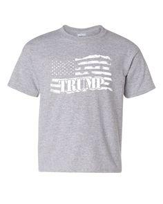cdf46e33 Donald Trump Flag MAGA Youth T-Shirt Make America Great Again Kids Tee