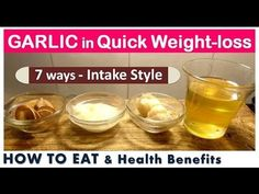Quick weightloss With GARLIC | Detox Water | NO EXERCISE | Weightloss Recipe | Garlic benefits - YouTube