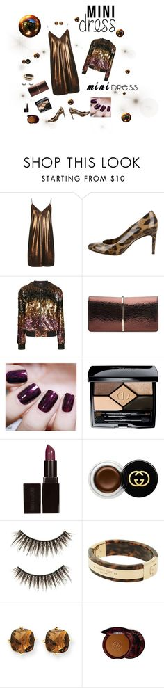 """""""Let's go to the party"""" by geonell ❤ liked on Polyvore featuring Topshop, Dolce&Gabbana, Nina Ricci, Black Orchid, Christian Dior, Gucci, shu uemura, Michael Kors, Kevin Jewelers and Guerlain"""