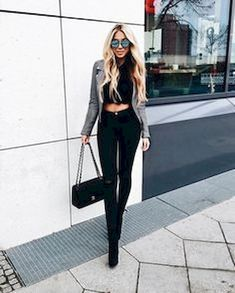 Outfits with jeans, crop top outfits, moda outfits, night outfits, chic . Club Outfits For Women, Mode Outfits, Jean Outfits, Trendy Outfits, Winter Outfits, Fashion Outfits, Clothes For Women, Womens Fashion, Club Outfits Jeans