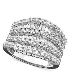 EFFY Diamond Ring in 14k White or Yellow Gold (1-1/2 ct. t.w.) - Rings - Jewelry & Watches - Macy's
