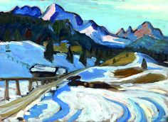 "Gabriele Münter (1877 – 1962)) ""Winter in Elmau"", 1933"