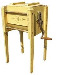 Butter churn - have never seen this one.  Love the color