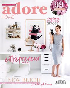 LITTLE WILLOW — Adore Home Magazine Interior Stylist, Interior Design, Interior Ideas, Royal Oak Floors, West Elm Dining Table, Penny Round Tiles, King Furniture, Diy Blinds, All White Kitchen