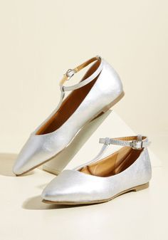 015dc4f636f553 10 Best Dresses to Wear to a Wedding. From Trip to Toe Vegan Flat in Silver.