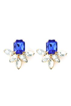 deco aife earrings in sapphire