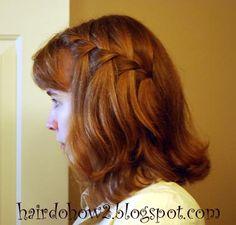 Hairdo How-to: Waterfall Braid Tieback