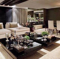 Salas Living room decor, living rooms, home furniture, contemporary furniture, design ideas, for more inspirations: www.bocadolobo.com