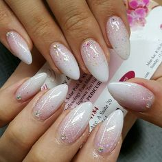 Bride nails, wedding manicure, prom nails, almond nails designs, nail d Simple Wedding Nails, Wedding Nails Design, Trendy Wedding, Wedding Manicure, Jamberry Wedding, Neutral Wedding Nails, Summer Wedding, Nail Wedding, Lilac Wedding