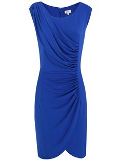 Buy Kaliko Ruched Panel Dress, Bright Blue online at JohnLewis.com - John Lewis