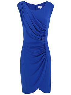 Buy Kaliko Ruched Panel Dress, Bright Blue online at JohnLewis.com - John Lewis