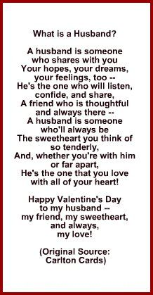 romantic valentine poems for husband | Poem for Husband for Valentine's Day