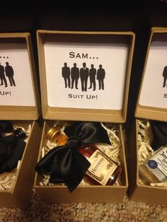 "Groomsmen Proposal Ideas ""Will you be my groomsmen?"" Will you be my groomsman boxWill you be my groomsman box Groomsmen Boxes, Groomsmen Proposal, Bridesmaids And Groomsmen, Bridesmaid Boxes, Wedding Bridesmaids, Asking Groomsmen, Bridesmaid Proposal Box, The Groomsmen, How To Ask Groomsmen"