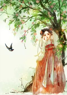 〔 古风水彩美人 〕 作者' 汀小瑟