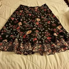Skirt Multicolored skirt. 34 inches from waist.  Reversable.  I wore it most as the first photo, but great either way. Light weight. Awesome for summer. Size 16. Skirts A-Line or Full