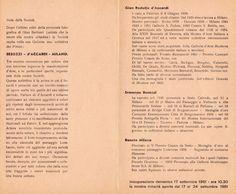 1961 Catalogo Mostra Galleria della Cesare da Sesto Sesto Calende