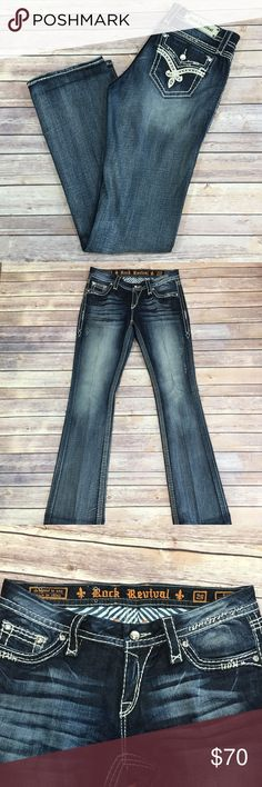 Rock Revival Ellie Bootcut Jeans Waist 29 Inseam 34 Rock Revival Jeans Ellie Bootcut In excellent condition No signs of wear or fading Rock Revival Jeans Boot Cut