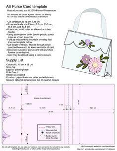 Folded Handbag Card template - Recherche Google