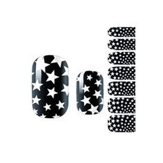 Set of 3 Nails Accessories Stars Pattern Black Style Nails Pasters for Girl *** Visit the image link more details.