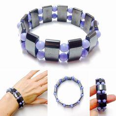 Hematite Bracelet - Womens Hematite Bracelet - Womens Gemstone Bracelet - Gemstone Bracelet - Womens Bracelet - Hematite Jewelry - Womens by OurUniverseShop on Etsy