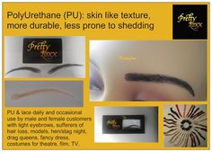 Hair extensions and related products False Eyebrows, Adhesive