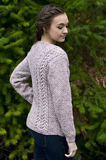 This cardigan is constructed with buttons and pockets. It's a free pattern!