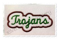 $2.95Applique Trojans Team Name Machine Embroidery Design