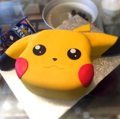 A cookies and cream Pikachu cake—lookin' good. Cake: Kelly's Kookies #inked #inkedmag #tattoo #cookies #cream #pokemon #pikachu #cake #yummy #dessert