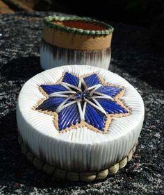 Porcupine Quill Baskets found around the Mason's cottage. Native American Baskets, Native American Crafts, Native Beadwork, Native American Beadwork, Birch Bark Baskets, Bead Bottle, Indian Crafts, Nativity Crafts, Paper Basket