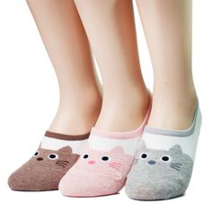 Cut-Cats-Womens-Loafer-7pairs-7color-1pack-Made-in-Korea-woman-socks-us