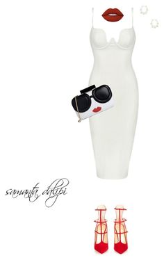 """""""Untitled #224"""" by samantadalipi on Polyvore featuring Posh Girl, Christian Louboutin, Alice + Olivia, Lime Crime and Kendra Scott"""