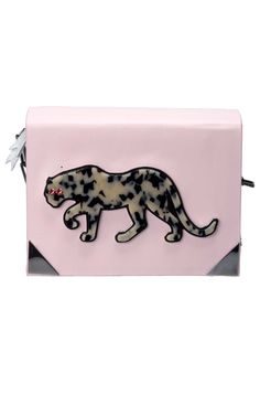 """Benedetta Bruzziches """"Perspex Panther Book"""" bag couldn't be more appropriate for Bagheera Boutique, discover it here --> http://www.bagheeraboutique.com/en-US/designer/benedetta_bruzziches"""