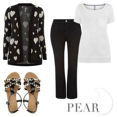 Wear monochrome for the Pear shape at www.evans.co.uk.