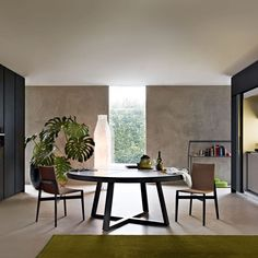 Tavolo da pranzo moderno / in legno / in vetro / in marmo WHERE Molteni & C