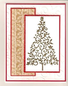 CCC12 - Nov-embossed tree by Sophiecat - Cards and Paper Crafts at Splitcoaststampers