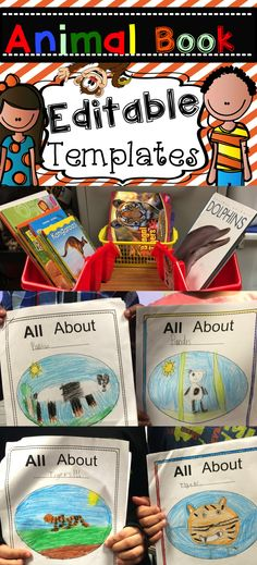 Best books I've seen! This is a collection of editable templates that students can use to generate questions, record information, publish, and illustrate an animal book. Easy to customize and no distracting clipart. Your students' work is the star of the book! $
