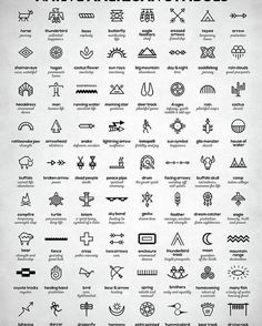 Native American Signs Poster by Zapista OU. All posters are professionally printed, packaged, and shipped within 3 - 4 business days. Choose from multiple sizes and hundreds of frame and mat options. Cute Tattoos With Meaning, Cute Tattoos For Women, Wrist Tattoos For Women, Small Tattoos For Guys, Meaningful Tattoos For Guys, Dot Tattoo Meaning, Geometric Tattoo Meaning, Cute Little Tattoos, Small Face Tattoos