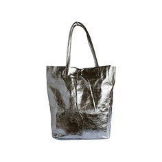 Tania Italian Silver Leather Shopper Bag - £49.99 Leather Hobo Bags, Leather Shoulder Bag, Shoulder Bags, Shopper Bag, Tote Bag, Italian Women, Italian Leather, Soft Leather, Grey