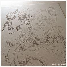 DESENHANDO IANSÃ ☆☆☆☆☆☆☆ https://www.instagram.com/notovitch/